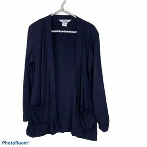 Exclusively Misook Navy Blue cardigan size XS